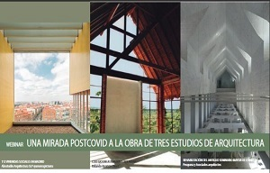 """<p><span style=font-size:12px><span style=font-family:arial,helvetica,sans-serif>Desde el MUPAAC tenemos el placer de invitaros, la tarde del 24 de marzo, a la conferencia UNA MIRADA POSTCOVID A LA OBRA DE TRES ESTUDIOS DE ARQUITECTURA, con la participación de los siguientes arquitectos y conferencias:</span></span></p>  <p><span style=font-size:12px><span style=font-family:arial,helvetica,sans-serif><strong>COLORES COMPARTIDOS. 112 VIVIENDAS SOCIALES EN MADRID</strong></span></span></p>  <div style=font-family:Calibri,Arial,Helvetica,sans-serif;><span style=font-size:12px><span style=font-family:arial,helvetica,sans-serif>ABESTUDIOARQUITECTURASLP Alejandro Gómez y Begoña López Doctoresarquitectos. Premio COAM 2013 por el edificio de 144 viviendas sociales """"Virgen de la Encina"""".</span></span></div>  <div style=font-family:Calibri,Arial,Helvetica,sans-serif;><span style=font-size:12px><span style=font-family:arial,helvetica,sans-serif><strong>ERROR Y NUEVAS PRÁCTICAS</strong></span></span></div>  <div style=font-family:Calibri,Arial,Helvetica,sans-serif;><span style=font-size:12px><span style=font-family:arial,helvetica,sans-serif>Arq. Rolando Aparicio Premio Bienal Iberoamericana de Arquitectura Montevideo y Madrid (2007). Gran Premio 12va. Bienal Internacional de Arquitectura La Paz (2012).</span></span></div>  <div style=font-family:Calibri,Arial,Helvetica,sans-serif;><span style=font-size:12px><span style=font-family:arial,helvetica,sans-serif><strong>VOLVER A EMPEZAR</strong></span></span></div>  <div style=font-family:Calibri,Arial,Helvetica,sans-serif;><span style=font-size:12px><span style=font-family:arial,helvetica,sans-serif>PESQUERA Y ASOCIADOS ARQUITECTOS</span></span></div>  <div style=font-family:Calibri,Arial,Helvetica,sans-serif;><span style=font-size:12px><span style=font-family:arial,helvetica,sans-serif>Eduardo Pesquera y Mercedes Diez arquitectos. Premio nazionale Selinunte (2018). Premio COAM 2017 por el Palacio de Justicia de La Rioja.</span></"""